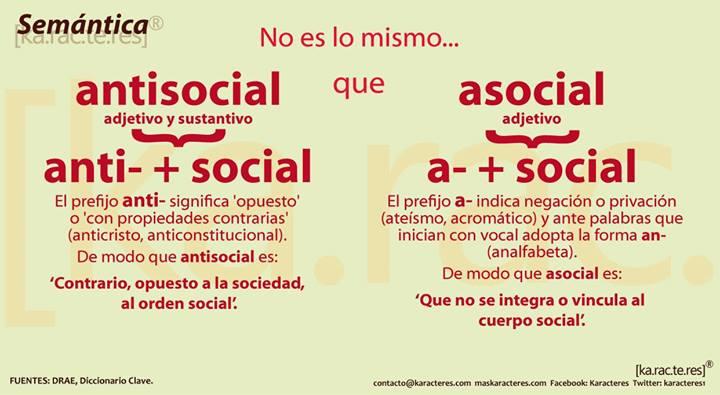 No Es Lo Mismo Antisocial Que Asocial